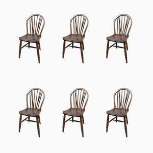 Windsor Dining Chairs, 1940s, Set of 6