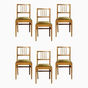 Mid-Century Esszimmerstühle aus Nussholz von Vanson Peter Hayward für Vanson, 1960er, 6er Set