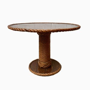 Vintage Rope Coffee Table Coffee Table, 1970s