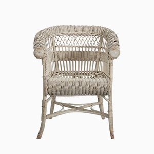 Antique Wicker Armchair by Hans Vollmer for Prag-Rudniker