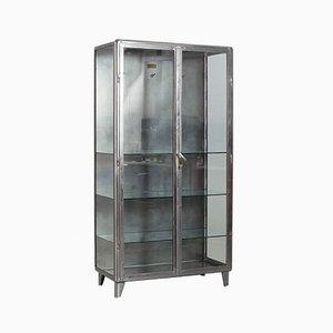 Polished Steel Medical Cabinet, 1920s