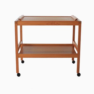 Mid-Century Danish Teak Bar Cart, 1970s