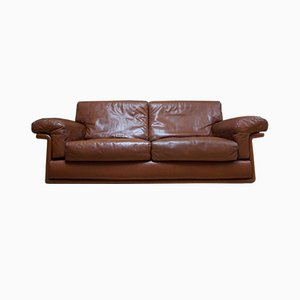 Vintage Leather Two-Seat Sofa from de Sede, 1970s