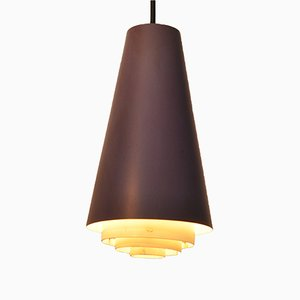 Conical Purple Ceiling Lamp by Svend Middelboe, 1960s