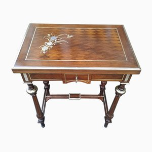 19th-Century Napoleon III Inlaid Coffee Table
