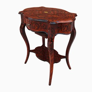 19th-Century Napoleon III Inlaid Side Table
