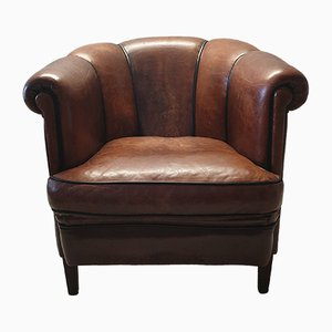 Vintage Sheep Leather Club Chair from Lounge Atelier, 1980s