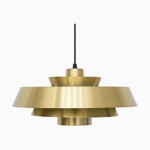 Messing Nova Deckenlampe von Jo Hammerborg für Fog & Mørup, 1960er