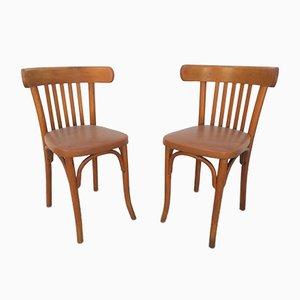 Bistro Stühle von Michael Thonet, 1950er, 2er Set
