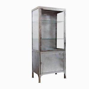 Mueble médico polaco de acero cepillado, años 50