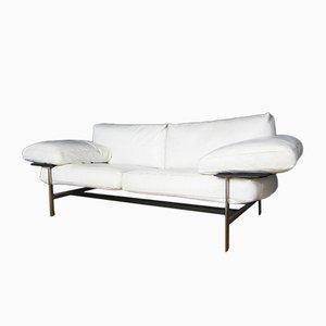 Canapé Vintage en Cuir Blanc par Antonio Citterio & Paolo Nava pour B&B Italia