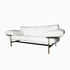 Vintage White Leather Sofa by Antonio Citterio & Paolo Nava for B&B Italia