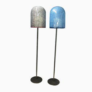 Mid-Century Murano Glas Stehlampen von Gae Aulenti für Vistosi, 2er Set