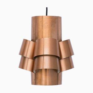 Copper Ceiling Lamp by Hans-Agne Jakobsson for Hans-Agne Jakobsson AB Markaryd, 1960s