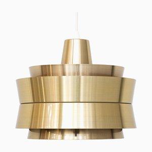 Lampada da soffitto in alluminio di Carl Thore & Sigurd Lindkvist per Granhaga Metallindustri, anni '60