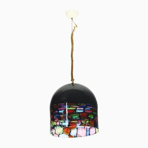 Lámpara colgante de cristal de Murano de Noti Massari para Leucos, años 70