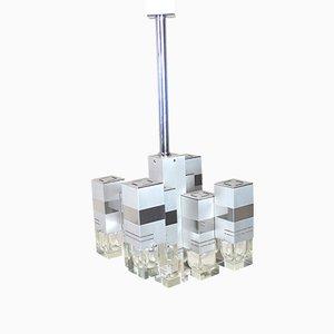 Lámpara de techo modelo Cubic de Gaetano Sciolari, años 70