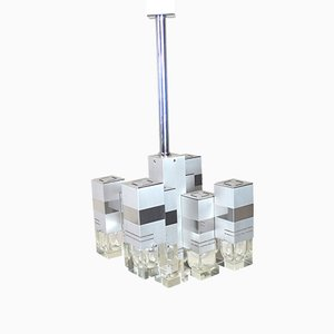 Plafonnier Modèle Cubic par Gaetano Sciolari, 1970s