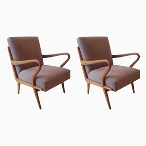 Vintage Armchairs by Hans Mitzlaff, 1950s, Set of 2