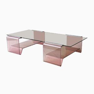 Tavolino da caffè in plexiglas di Michel Dumas, anni '70