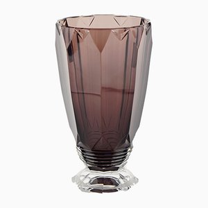 Zampa Amethyst Vase by Joseph Simon for Val Saint Lambert, 1920s
