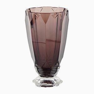 Zampa Amethyst Vase by Joseph Simon for Val Saint Lambert, 1920s