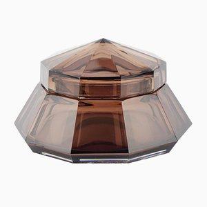 Hermione Amethyst Glass Box by Joseph Simon for Val Saint Lambert, 1920s