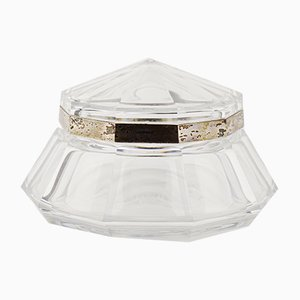 Hermione Clear Glass Box by Joseph Simon for Val Saint Lambert, 1920s