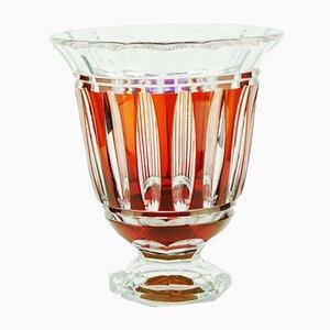 Orange Castille Glass Vase from Val Saint Lambert, 1920s
