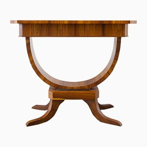 Art Deco Style French Walnut Console Table, 1960s