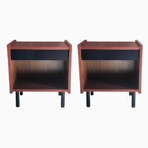 Plywood Nightstands, 1970s, Set of 2