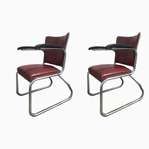 Steel Tube Armchairs from Nubert, 1950s, Set of 2