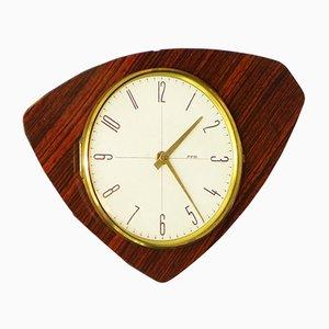 Reloj de pared de cocina francés vintage de FFR, años 60