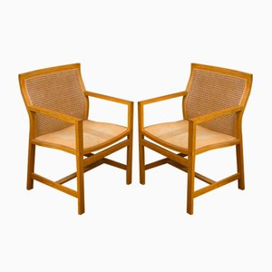 Danish Oak Armchairs by Thygesen & Sørensen for Botium, 1980s, Set of 2