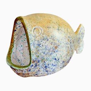 Ceramic Fish Sculpture by Bernard Buffat, 1960s
