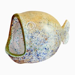Scultura a forma di pesce in ceramica di Bernard Buffat, anni '60