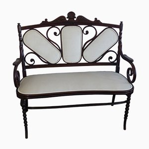 Antique Velour Bench from J & J Kohn, 1880s