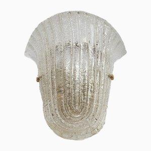 Murano Glas Wandleuchte, 1960er