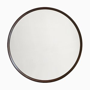 Danish Round Rosewood Mirror, 1960s
