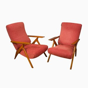 Italian Reclining Armchairs by Antonio Gorgone, 1950s, Set of 2
