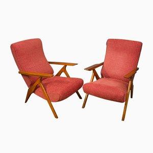 Poltrone reclinabili di Antonio Gorgone, Italia, anni '50, set di 2
