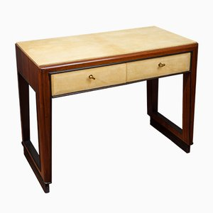 Parchment and Rosewood Desk by Osvaldo Borsani for Atelier Borsani Varedo, 1930s