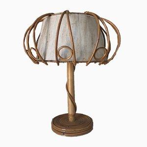 Lampe de Bureau en Rotin, 1960s