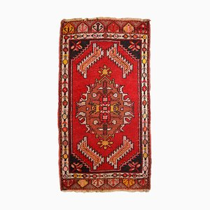 Vintage Turkish Red Yastik Rug, 1960s