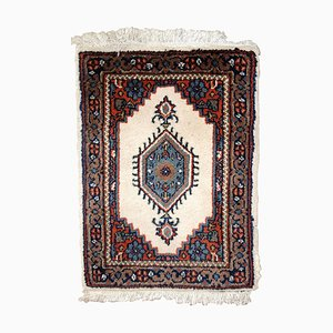 Red, White, and Olive Hamadan Rug, 1970s