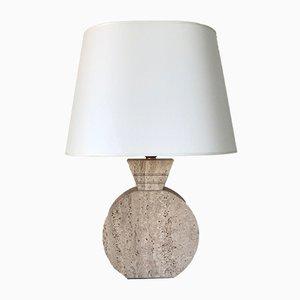 Lámpara de mesa de travertino, años 60
