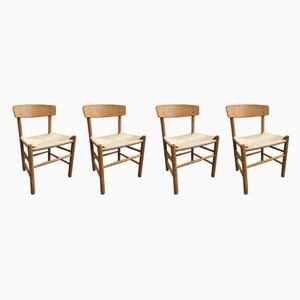 Esszimmerstühle von Børge Mogensen, 1960er, Set of 4