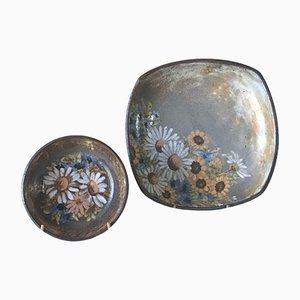 Keramikgeschirr von Alexandre Kostanda, 1960er, 2er Set