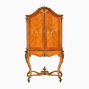 Antique Style French Inlaid Marquetry Drinks Cabinet, 1930s