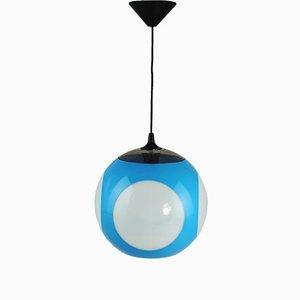 Lámpara de techo azul de Luigi Colani, años 70